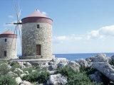 Windmills  Rhodes  Greece