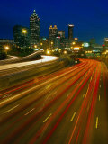 Downtown at Dusk with Traffic  Atlanta  GA