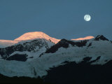 Moon Over Glacier  AK