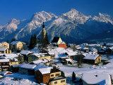 Small Village  Graubunden  Switzerland