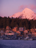 Winter Sunset on an B Harbor  Sitka Alaska