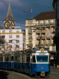 Streetcar  Zurich  Switzerland