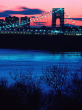 George Washington Bridge  Hudson River  NY