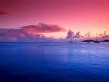Boats on the Bay at Sunset  Culebra  Puerto Rico