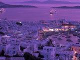 Mykonos Town at Night  Mykonos  Greece