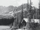 Cabin and Mts at Lake O&#39;Hara