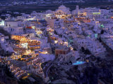 Santorini at Night  Greece