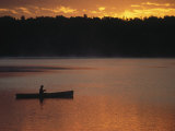 Man Fishing on Lake  Quetico Provincial Park