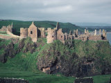Dunluce Castle on Cliff  Northern Ireland