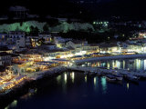 Town &amp; Harbor at Night  Epirus  Greece
