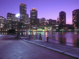 Nighttime Boston  Massachusetts