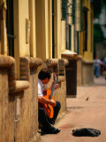 Guitarist Along Callejon Del Agua  Seville  Spain