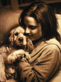 Portrait of Teen Girl with Dog