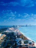 Aerial of the Beaches of Cancun  Mexico