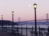 Street Lamps with Bridge in the Background