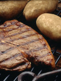 Steak and Potato on Grill