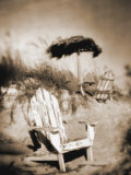 Blurred Image of Chair on Beach  Amelia Island  FL