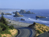 Highway 101 Near Cape Sebastian  Oregon