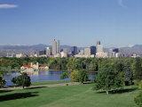 Skyline and Rocky Mts  Denver  Colorado