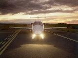 Corporate Jet on Runway