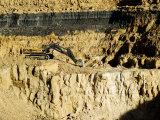 Backhoe (Excavator) in Limestone Quarry  England