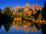 Teton Range in Autumn  Grand Teton National Park  WY