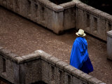 Ecuador  Lady Crossing Bridge