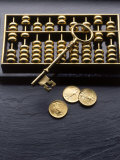 Abacus  Key and Coins