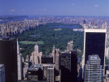 Aerial of Central Park and Buildings  NYC