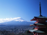 Pagoda and Mt Fuji  Japan