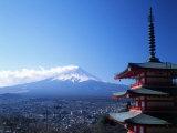 Pagoda and Mt Fuji  Japan