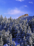Winter Snow in the Flatirons Boulder  CO