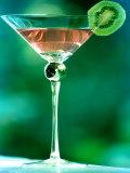 Martini with Kiwi Slice