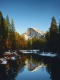 Half Dome Reflected in Merced River  Yosemite National Park