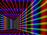 Abstract Design with Blue Red and Green Laser-Like Lines on Black Background
