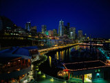 New Marina WAterfront at Night  Seattle  WA