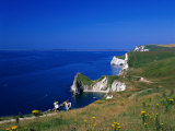 Durdle Door Coastline  Weymouth Bay  Dorset  UK