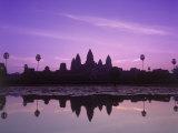 Dusk at Pond  Cambodia