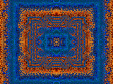 Blue and Orange Morrocan Style Fractal Design