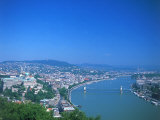 Aerial View of Gellert Hill  Budapest  Hungary