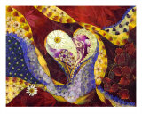 Heart Of Giving - Pressed Flower Art