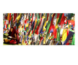 Tibetan monk under prayer flags