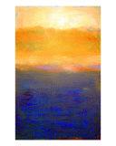 Golden Sunset On Lake Michigan