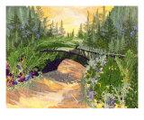 Bridge Garden - Pressed Flower Art