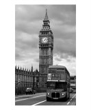 Big Ben  London  England  B &amp; W Photograph