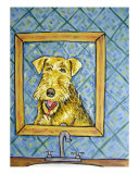 Airedale Terrier Brushing Teeth