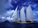Scenic View of a Sailing Ship