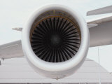 A Close View of the Intake Section of a Jet Engine