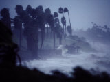 A Hurricane Lashes the Coast Near Corpus Christi