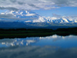 Cloud-Enshrouded Mt Mckinley Reflected in Wonder Lake